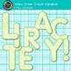 Yellow-Green Crayon Alphabet Clip Art {Great for Classroom Decor & Resources}