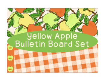 Yellow Green Red Apple Bulletin Board Border Printable Full Color PDF