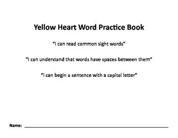 Nellie Edge Yellow Heart Word Practice Book