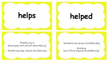 Yellow High Frequency Words