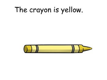 Yellow Interactive Color Sight Word Reader; Kindergarten; Special Ed.; Autism