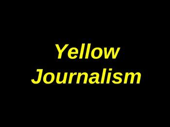 Yellow Journalism Activity