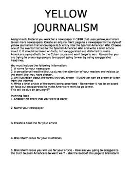 Yellow Journalism Assignment
