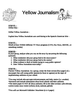 Yellow Journalism Project