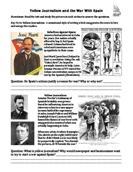 Yellow Journalism and the Spanish American War