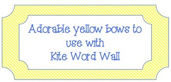 Yellow Kite Bows