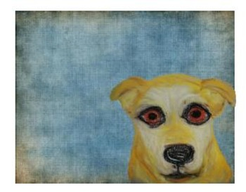 Yellow Lab Note Card