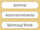 Yellow Lattice Schedule Cards