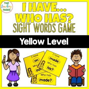New Zealand Sight Words Yellow Level I have Who Has Game