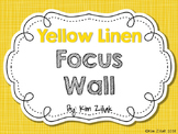Yellow Linen Focus Wall {White}