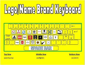 Yellow Logo and Name Brand Keyboard for Marketing Class!