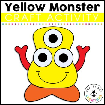 Yellow Monster Cut and Paste