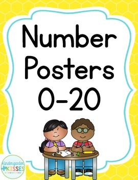 Yellow Number Posters