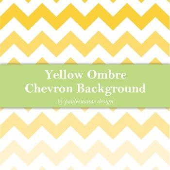 Yellow Ombre Chevron Background