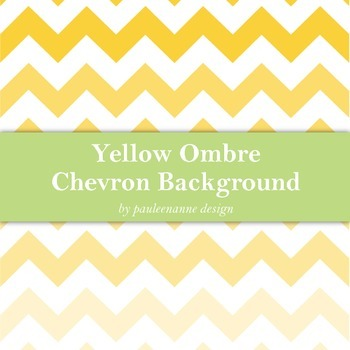 Yellow Ombre Chevron Background