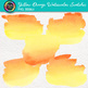 Yellow-Orange Watercolor Swatches Clip Art: Hand-Painted Textures {Photo Clipz}