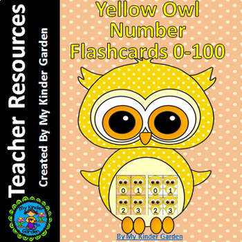 Yellow Owl Math Number Flashcards 0-100