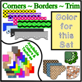 Yellow Pastel Borders Trim Corners *Create Your Own Dream Classroom/Daycare*