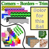 Yellow Pastel Borders Trim Corners *Create Your Own Dream