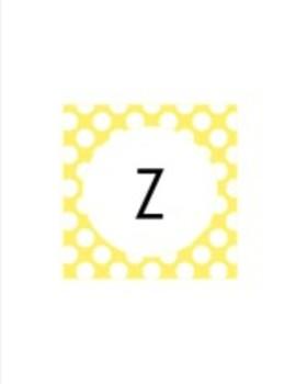 Yellow Pastel Polka Dot Collection Classroom Decor