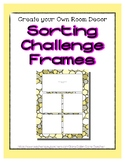 Yellow Pastel Sorting Mat Frames * Create Your Own Dream C