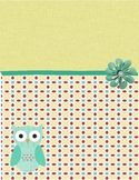 Yellow Patterned Binder Cover with an Owl
