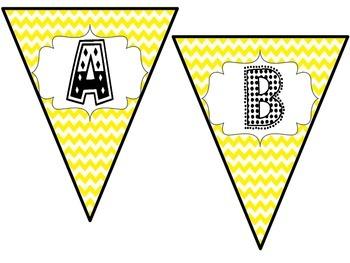 Yellow Pennant Banner