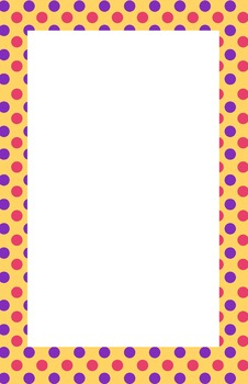 Yellow, Pink, Purple Polka dot Border