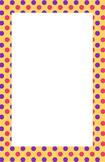 Yellow, Pink, Purple Polka dot Border