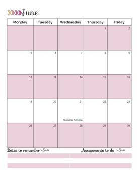 Yellow & Pink Teacher Planner Set