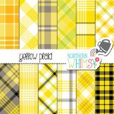 Yellow Plaid Digital Paper