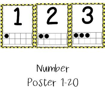 Yellow Polka Dot Classroom Decor Bundle