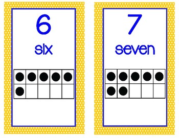 Yellow Polka Dot Math Numbers Header