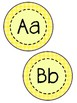 Yellow Polka Dot Word Wall Bundle