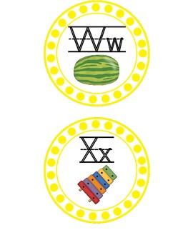 Yellow Polka Dot Word Wall Letters {Freebie}