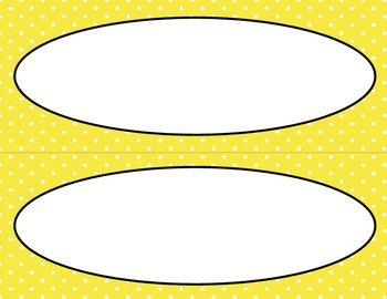 Yellow Polka Dots Classroom Labels and Tags