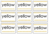 Yellow Pre-Primer Sight Word Flash Cards