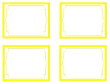 Yellow Printable Classroom Decor