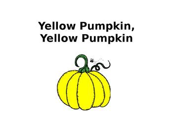 Yellow Pumpkin, Yellow Pumpkin What Do You See? booklet (K & PreK)