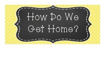 Yellow Quatrefoil Design How Do We Get Home Cards
