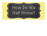 Yellow Quatrefoil Design How Do We Get Home Cards