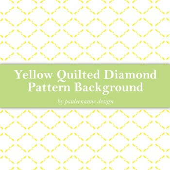 Yellow Quilted Diamond Pattern Background