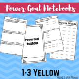 Yellow Reading Level Power Goal Notebook