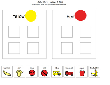 Yellow & Red Color Sort