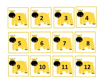 Yellow - Red HIPPO Calendar Flashcards