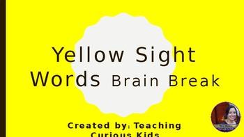 Yellow Sight Word Brain Break