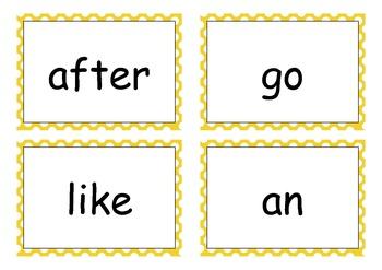 Yellow Sight Words