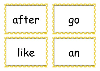 Yellow Sight Words