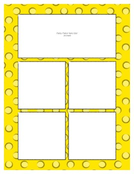 Yellow Sorting Mat Frames * Create Your Own Dream Classroom / Daycare *