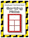 Yellow Sorting Mat Frames * Create Your Own Dream Classroo